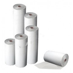 Bobina papel sulfito blanco
